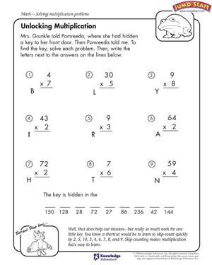 Multiplication Worksheets For Kids #1