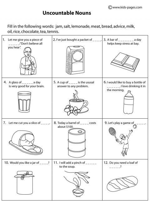 Noun Printable Worksheets #3