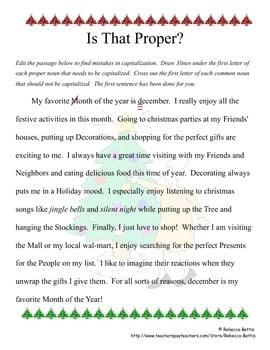Paragraph Editing Worksheets #4
