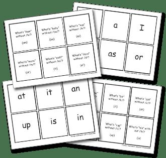 Phoneme Deletion Worksheets #5