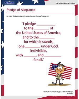 Pledge Of Allegiance Worksheets For Kids #3