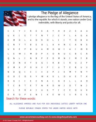 Pledge Of Allegiance Worksheets For Kids #5
