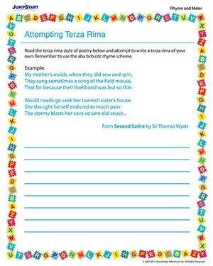 Poetry Worksheets 5th Grade #1