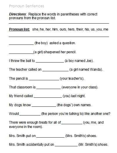 Pronoun I And Me Worksheets #2