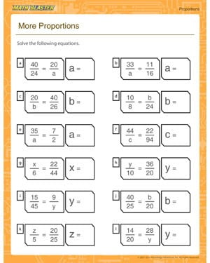 Proportions Worksheets Free #2