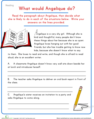 Reading And Writing Comprehension Worksheets #2