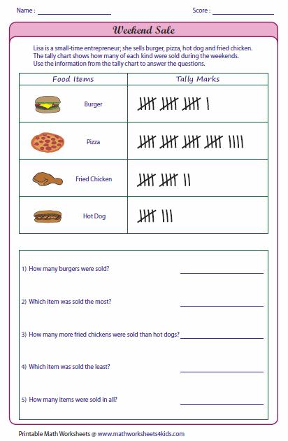 Reading Charts Worksheets #5