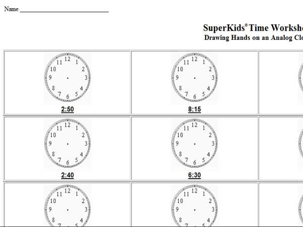 Reading Clock Worksheets #1