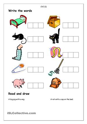 Simple Spelling Worksheets #4