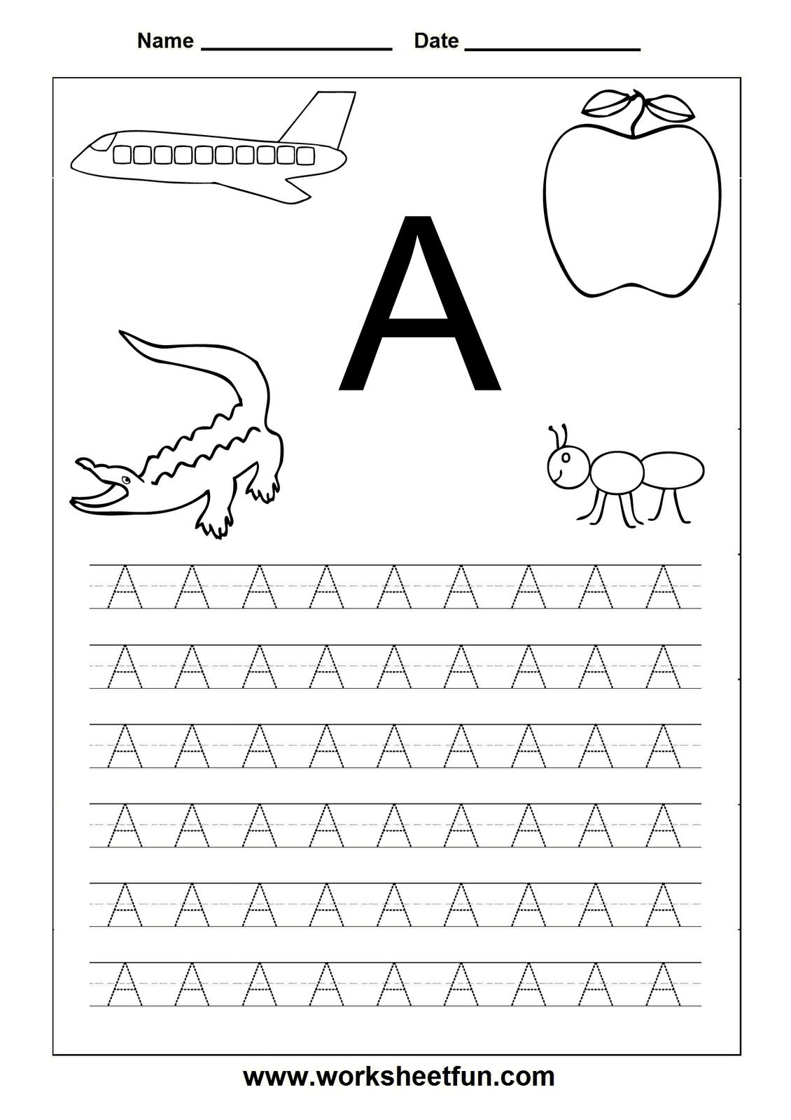 Abc Printable Worksheets For Kindergarten – Mreichert Kids Worksheets