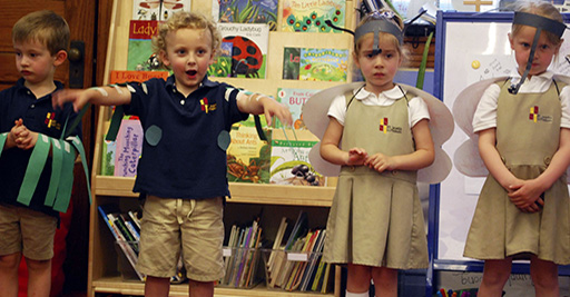 PreK students put on a play about insects.