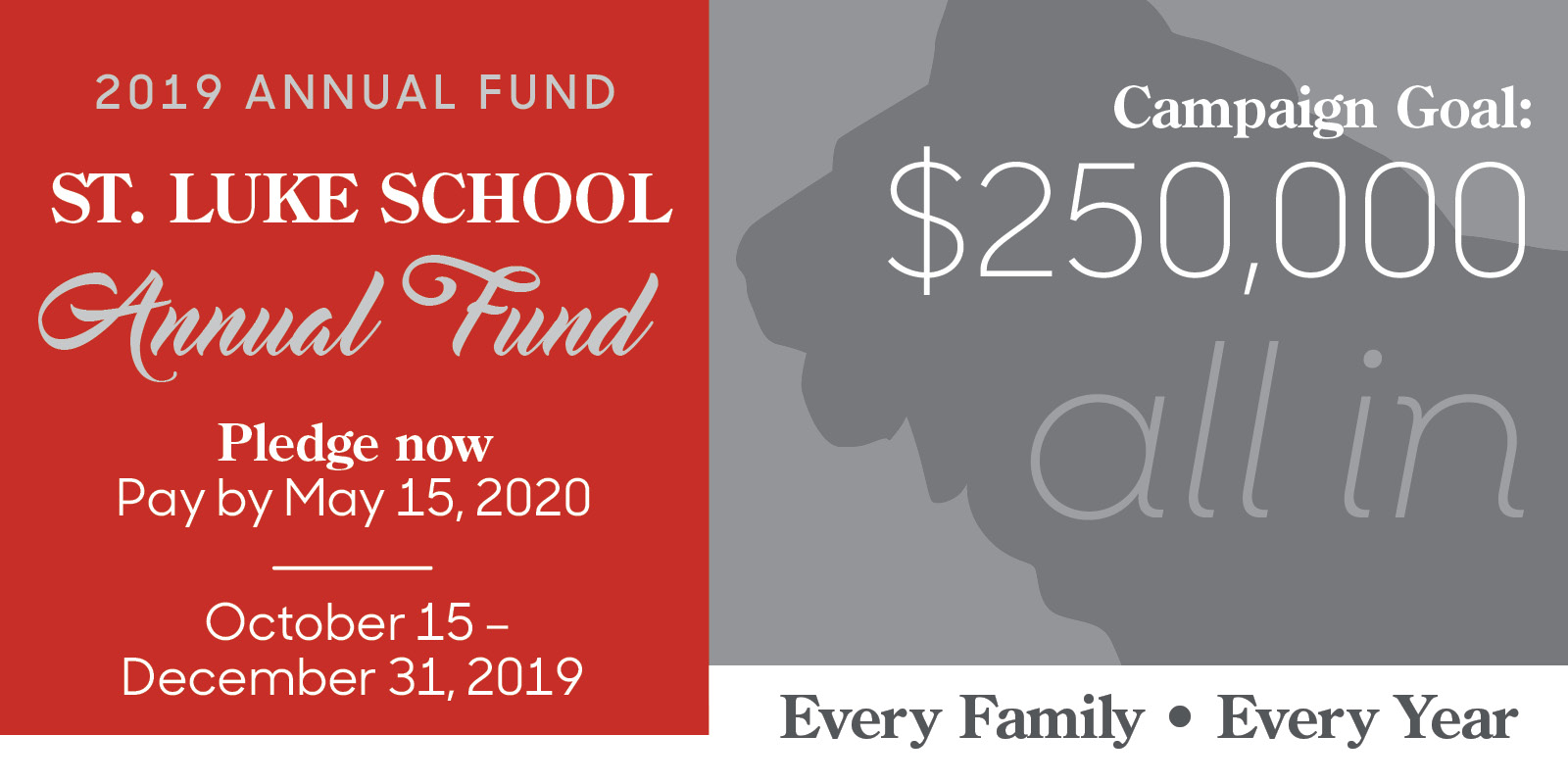 Announcing the 2019 Annual Fund Campaign