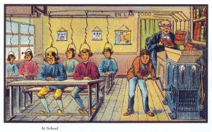 I love this c.1910 French vision of the future of education. Would that it were so easy!