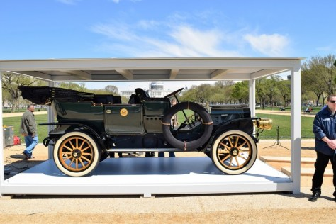"1909 White Model ""M"" Steam Car used by President Taft in its ""jewel box"" on display on the National Mall"