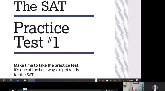 How to Approach the SAT test Reading Section: Modeling approaches & strategies on practice test 1