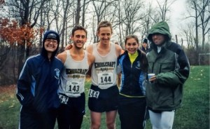 Photo by Ed Kozloff, Head Coach. Grace Doolittle, left, Caitin Hacker, Ethan Levack, Audrey Baetz and Liam Cardenas celebrate after the Division III National Championship at Finger Lakes Community College.