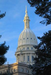 If the House-approved Michigan Religious Freedom Restoration Act is passed by the Senate, the bill will move on to the Michigan State Capitol, which is pictured above. There, Governor Rick Snyder could decide the bill's fate. PHOTO BY JOHN BEUTLER|SENATE.MICHIGAN.GOV
