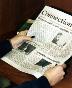 """Throughout Schoolcraft's history, the college newspaper has gone through many style changes. The current name seems to be the one that's stuck for quite awhile. """"The Connection"""" has been one of the longest running news publications at Schoolcraft."""