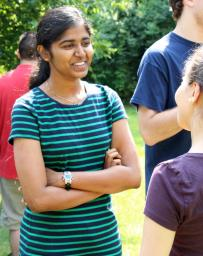 FILE PHOTO Anvitha Paruchuri, second place Pythagorean Prize winner, participates in the Student Activites Office leadership retreat in 2014.