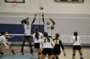 The volleyball team is working to improve on finishing games to achieve more wins this season.