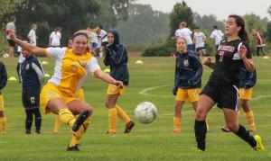 Schoolcraft's forward Katie Vitella ended the game with two goals in 4-0 win.