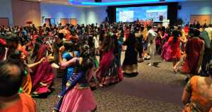 The Navaratri Garba is an exciting, culture-filled night of dancing. Many, as shown in the picture, wear traditional Indian attire.