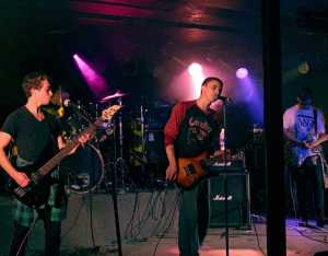 IMAGES FROM FACEBOOK.COM The Running Youngs performing live at Skateland on Sept. 19.