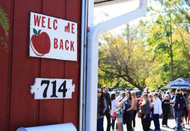 Many cider mills are open from late August through mid-November.