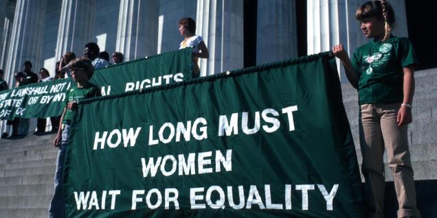 ERA Rally At The Lincoln Memorial