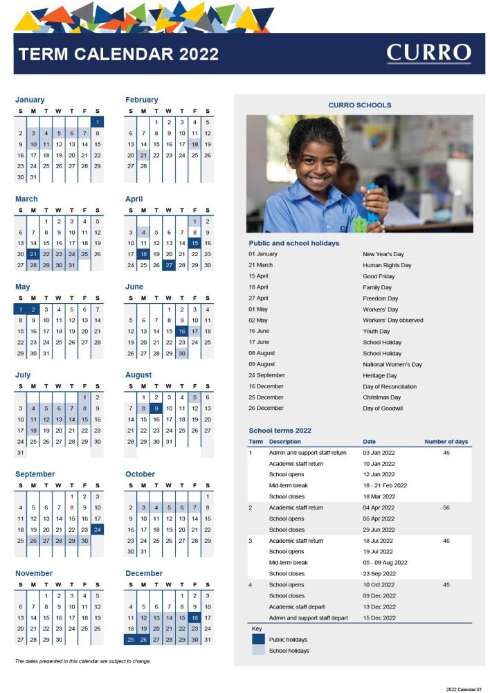 curro schools calendar 2022