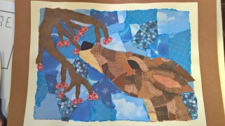 Schooled in Love: Collage Deer