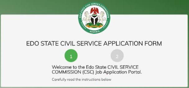 Edo State Civil Service Recruitment Form Portal