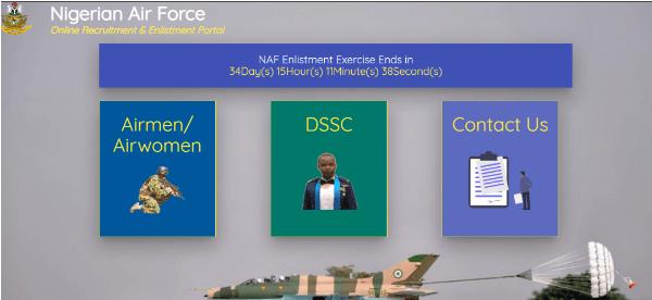 nafrecruitment.airforce.mil.ng Login Portal