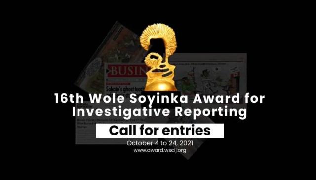 Wole Soyinka Award Investigative Reporting