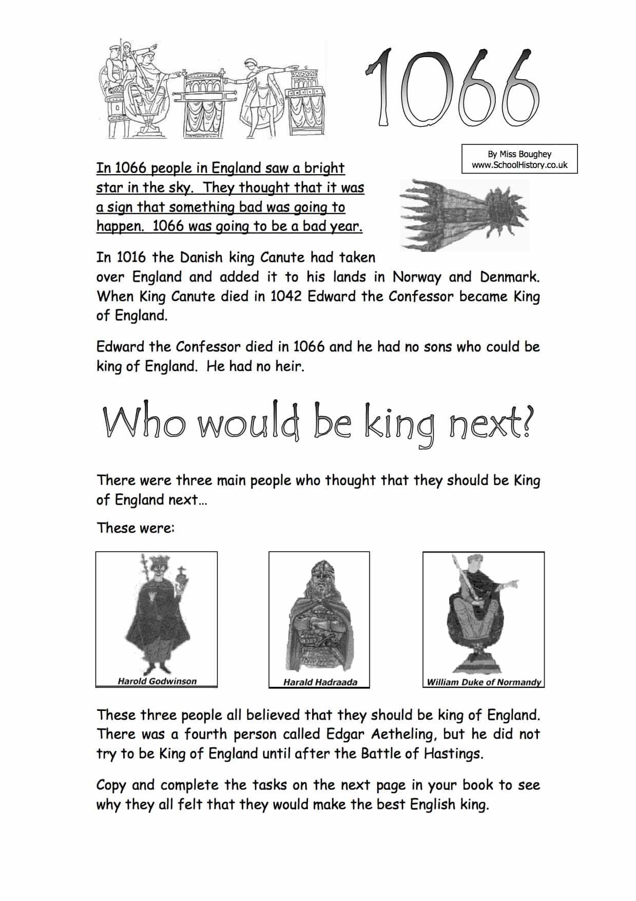 Who Should Be King Worksheet