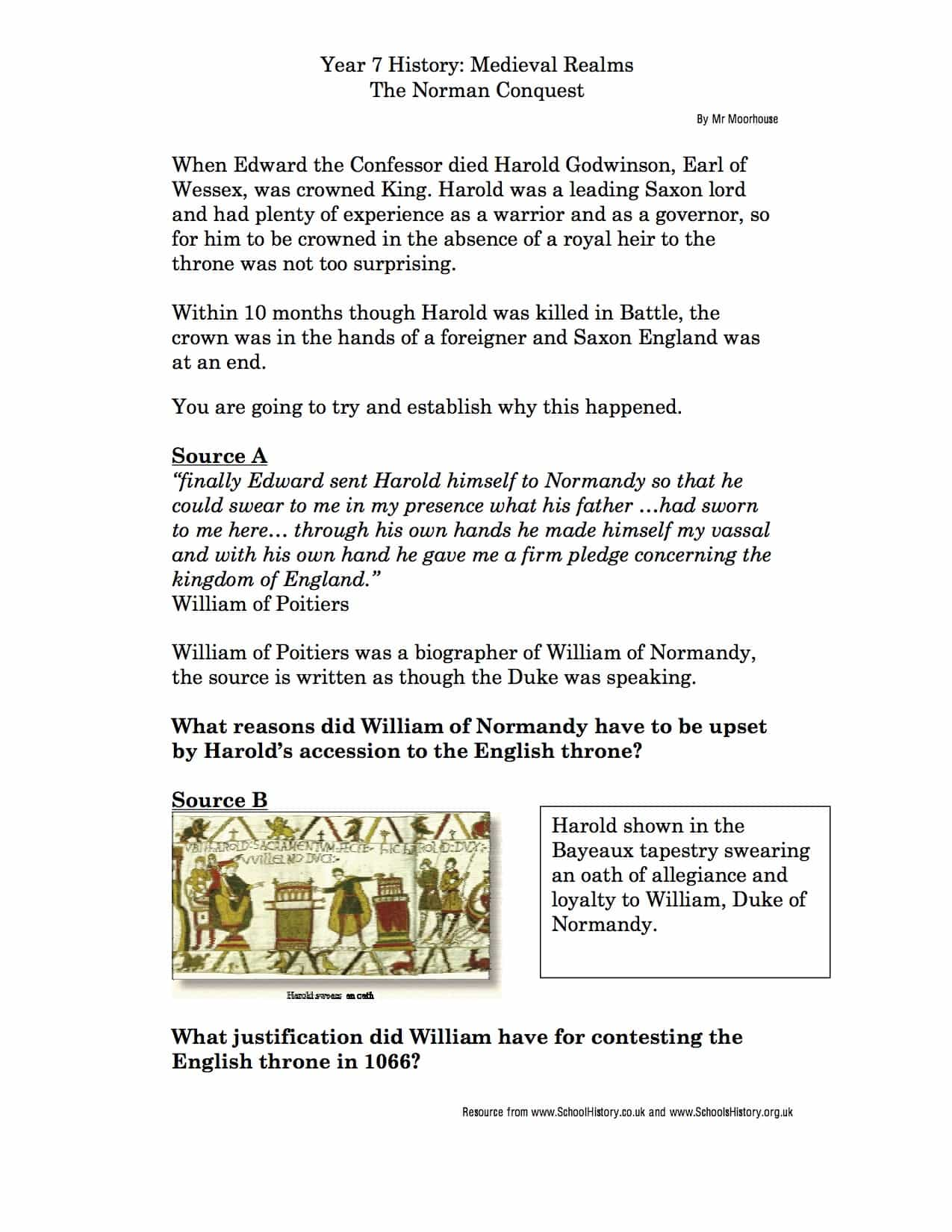 Causes Of The Battle Of Hastings