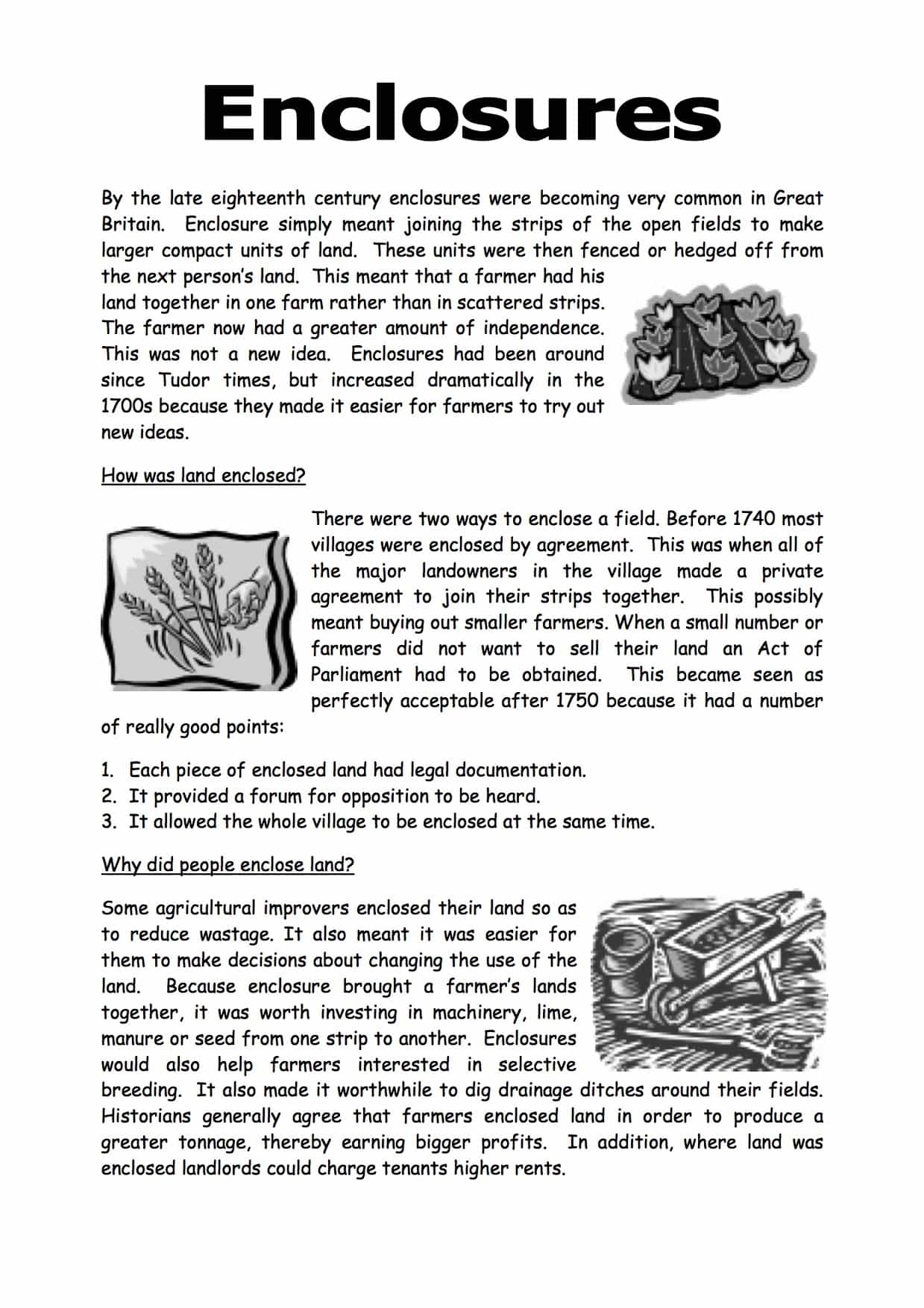What Are Enclosures Facts Amp Information Worksheet