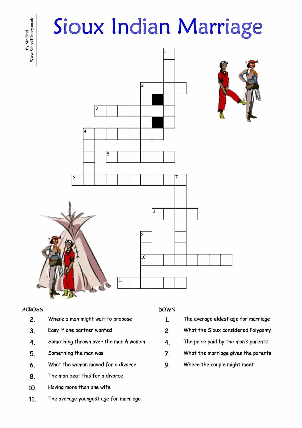 Native American History Worksheets