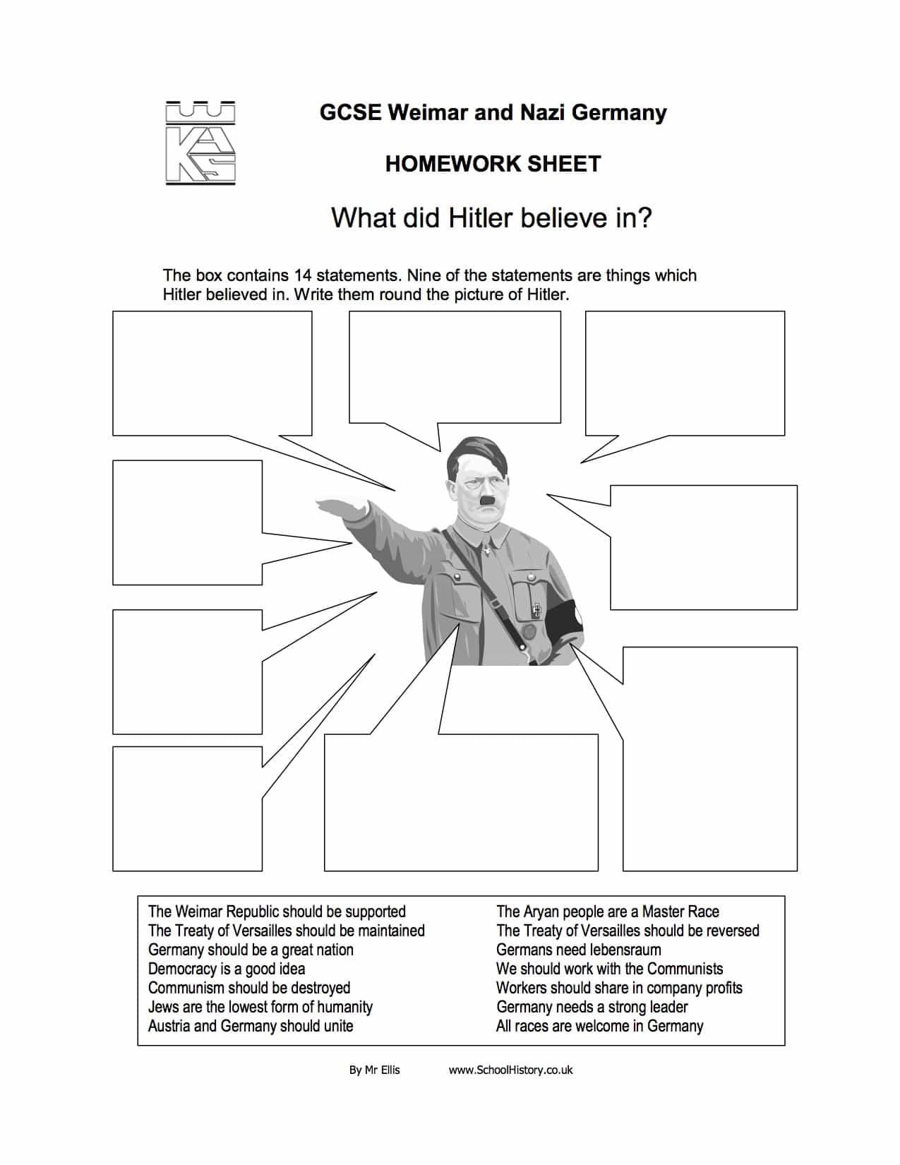 History Worksheets