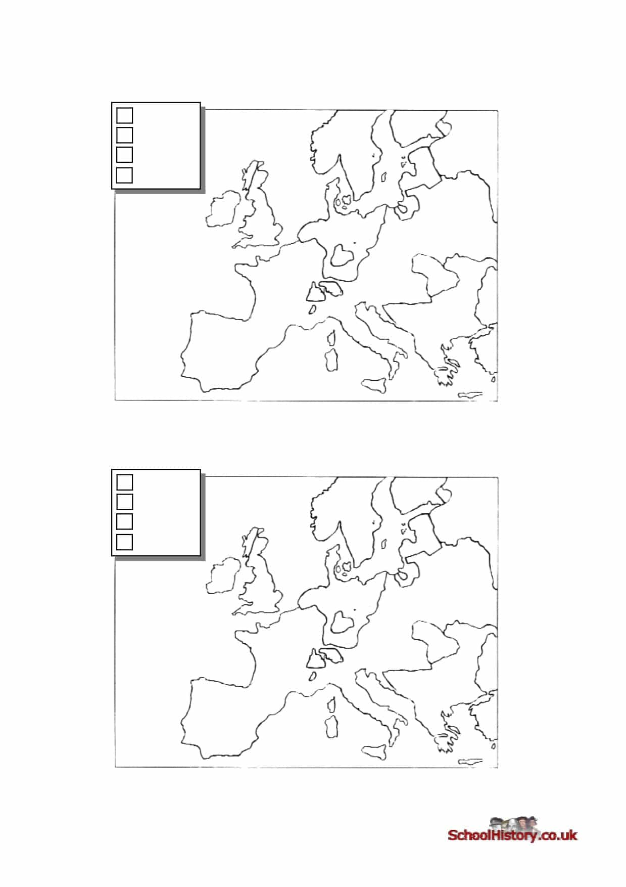 The Reformation Map Blank Worksheet
