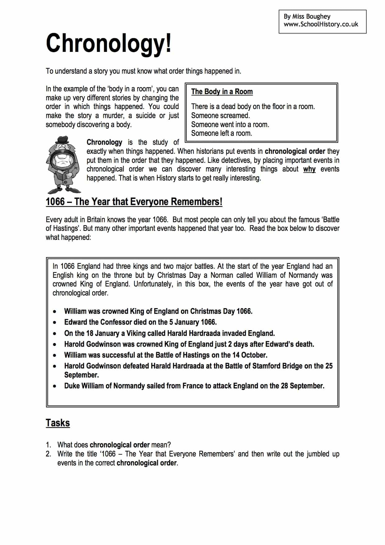What Is Chronology Worksheet Amp Lesson Plan