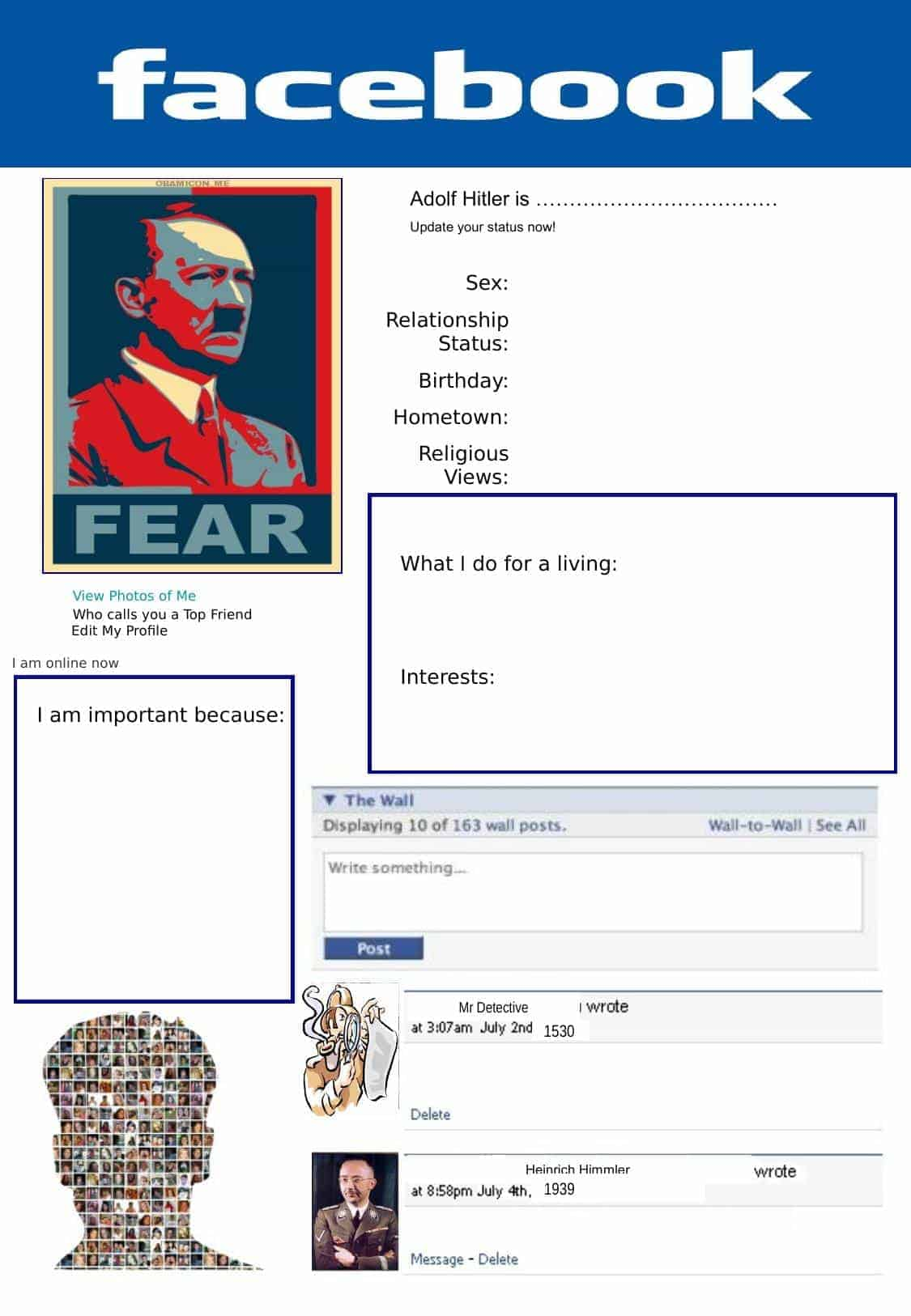 Hitler Facebook Page Worksheet