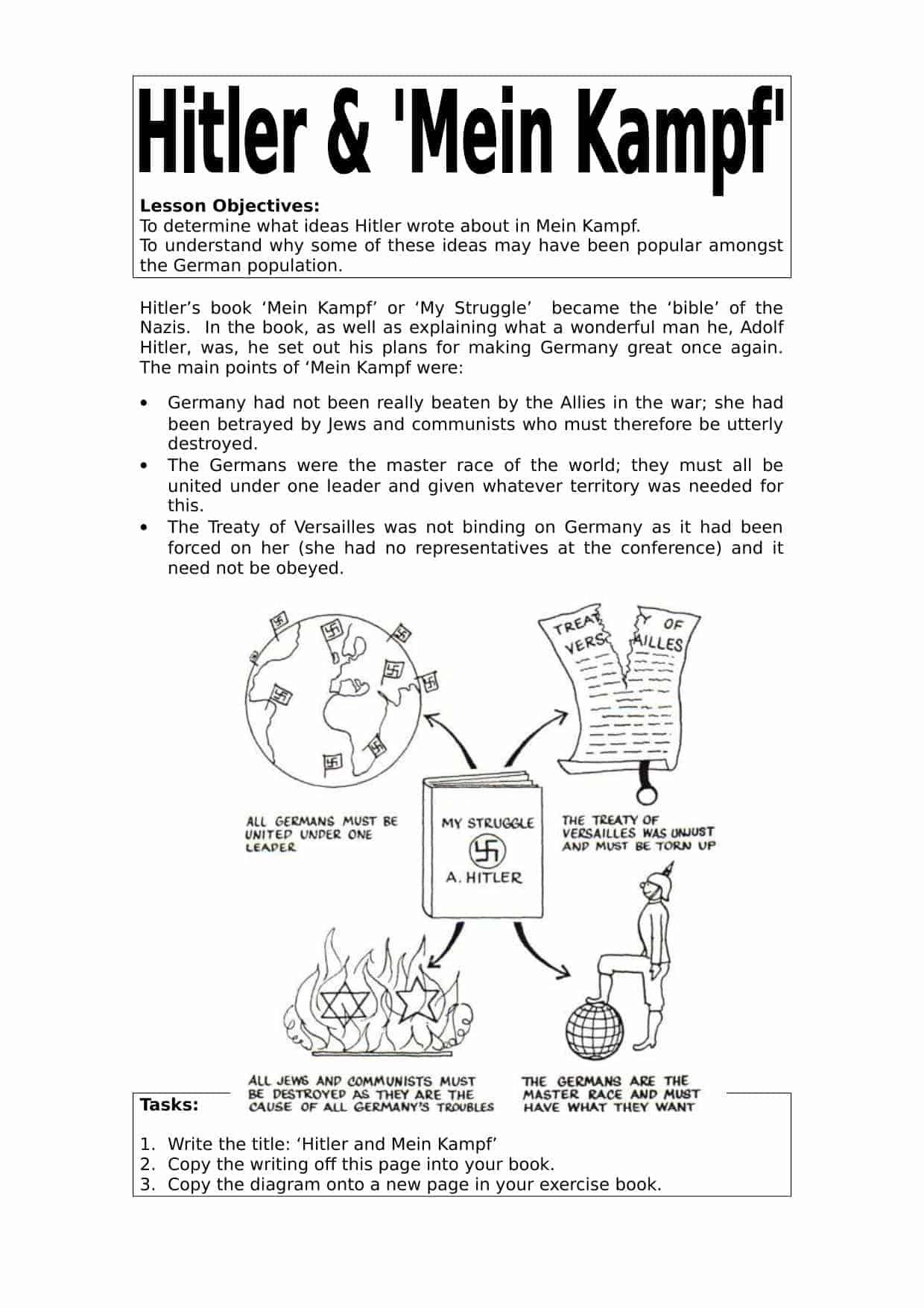 Nazi Germany Worksheets