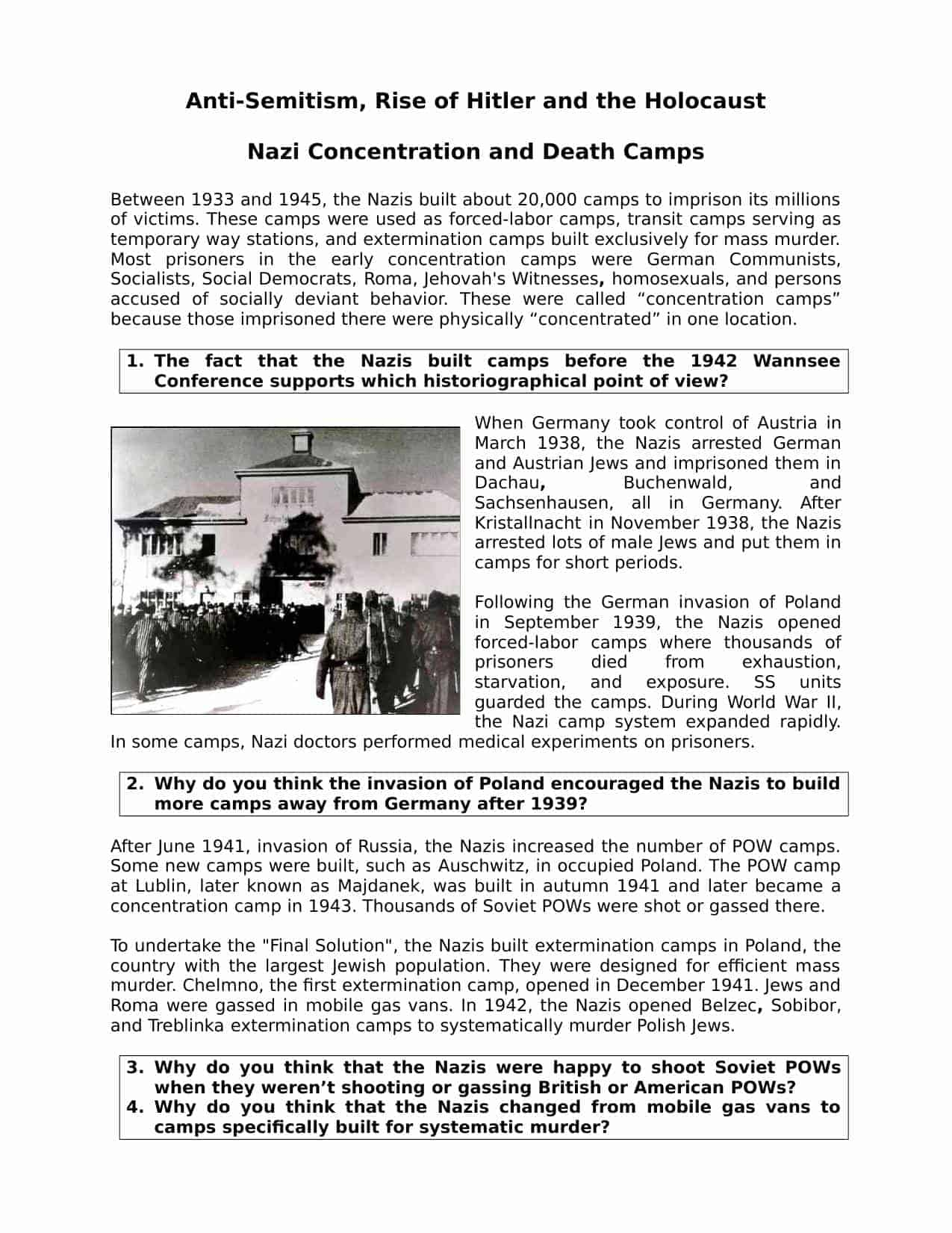 Nazi Concentration And Camps Facts