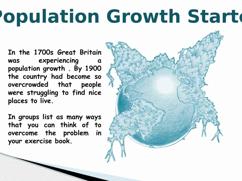 Industrial Revolution Population Growth Starter Powerpoint