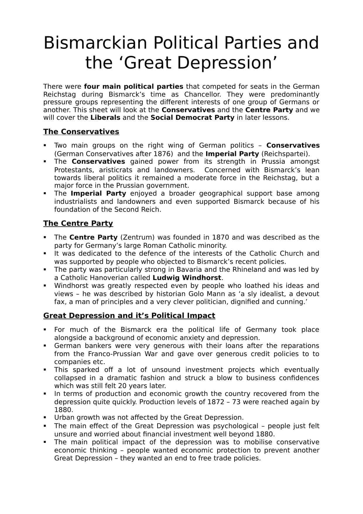 Worksheet On Political Parties