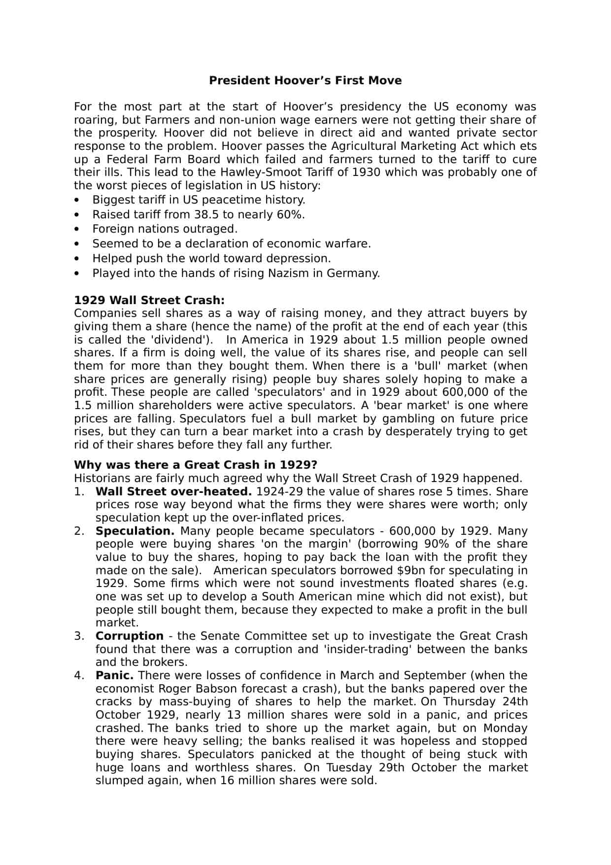 Great Depression And The New Deal Worksheet