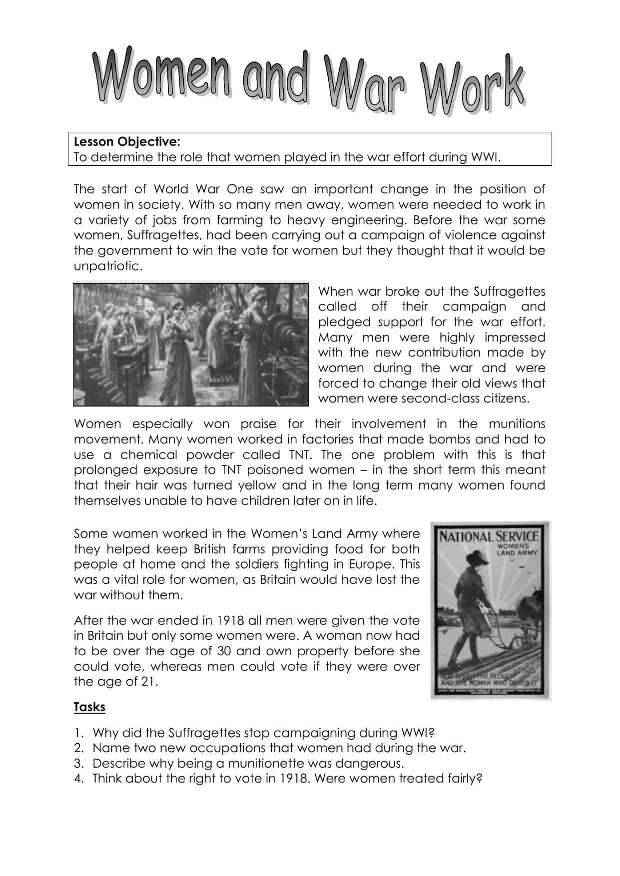 Ww2 Worksheet With Powerpoint