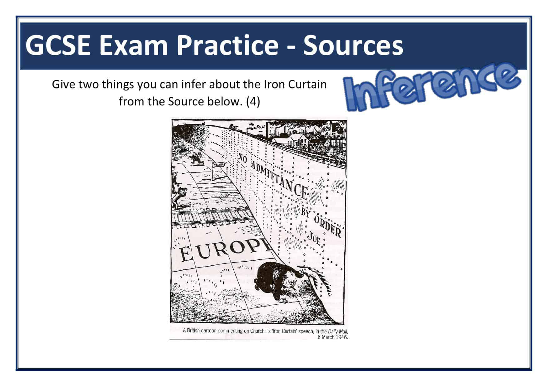 Iron Curtain Gcse Inference Source Question