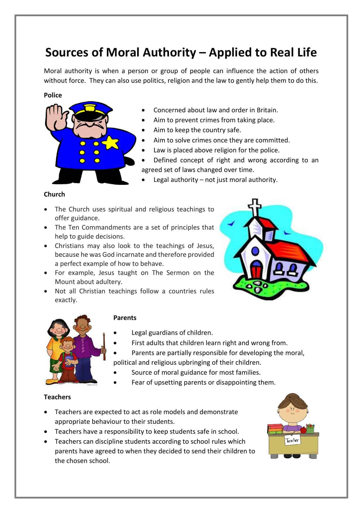 Sources Of Law Worksheet